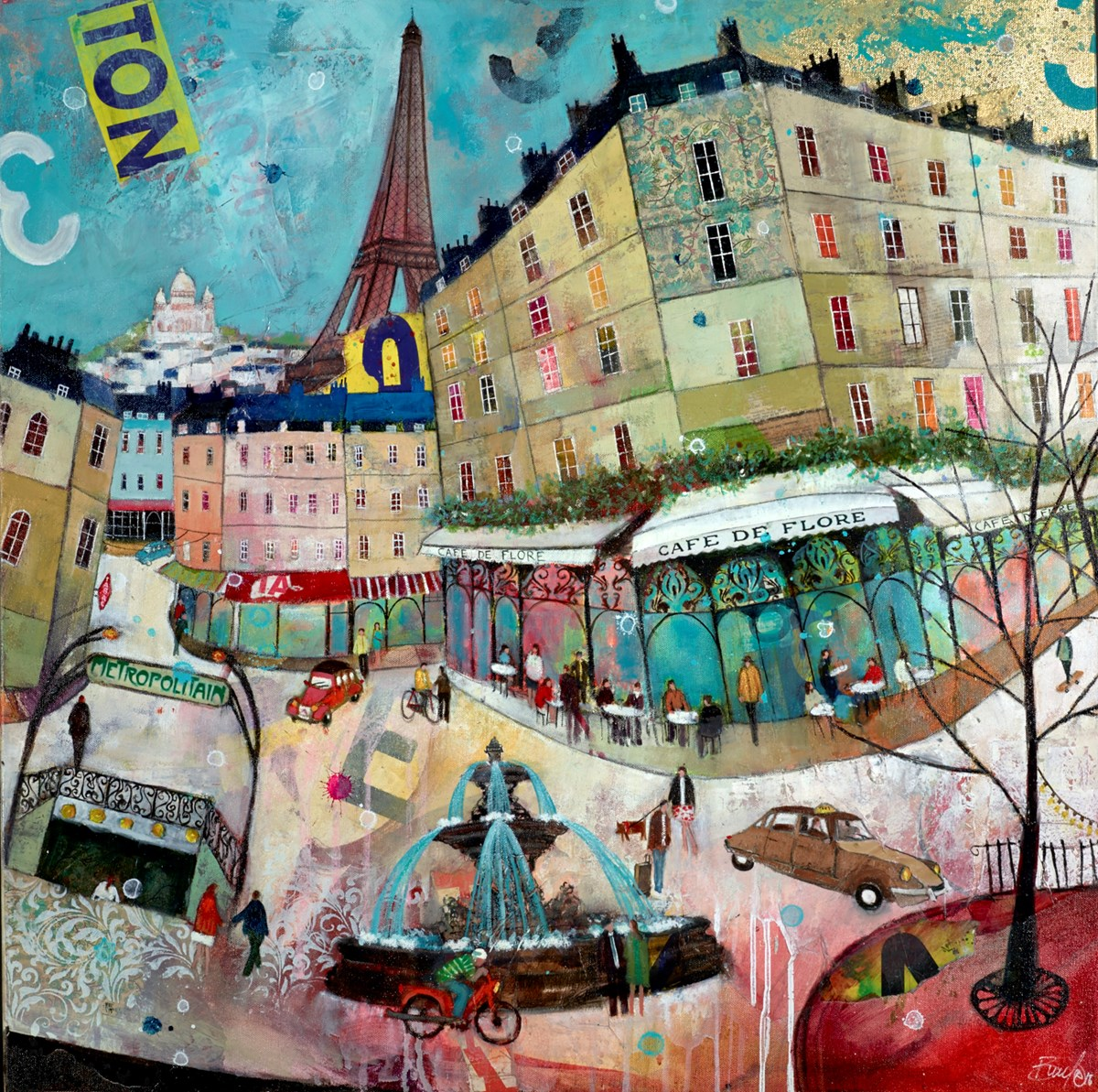 Cafe de Flore, Paris by richard burel -  sized 32x32 inches. Available from Whitewall Galleries